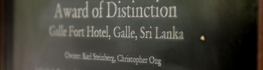 Awards Accolades Galle Fort Hotel Sri Lanka S Leading